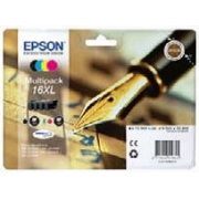 CARTUCCE T1636 MULTIPACK (B, C, M, Y) ORIGINALE - EPSON WORKFORCE WF 2010/2510 (32,4ML)