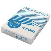 Fabriano Copy 4fori carta A4 risma/500 ff 80g cie 163