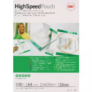 100 POUCHES 125 MIC A4 HIGH SPEED