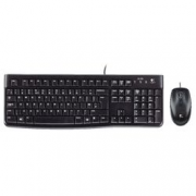 DESKTOP SET NERO LOGITECH K120 CORDED
