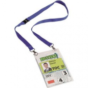 PK10 BADGE A6 DURABLE WITH CORD BLU