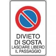 CARTELLO 300X200 DIVIETO DI SOSTA