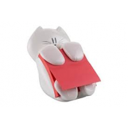 DISPENSER GATTO+90 Z-NOTES SS ROSSO 3M