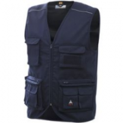 GILET BLU 2XL MULTITASCHE CHROME
