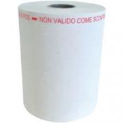 ROTOLO CARTA PER POS NON VALIDO COME SCONTRINO FISCALE LARGHEZZA 57MM DIAMETRO ESTERNO 50MM LUNGHEZZA 30M 10 PZ BPA FREE/FSC