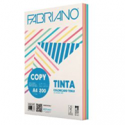 Fabriano Copy Tinta Assortiti Tenui cartoncini A4 risma/100 ff 200g