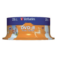 PACK25 DVD-R VERBTM 16X 4.7GB PRINT SPIN