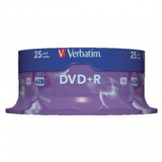 PACK 25 DVD+R VERBATIM 16X 4.7GB SPINDLE