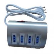 CIABATTA SCRIV. 4 PRESE  SCHUKO  2 USB